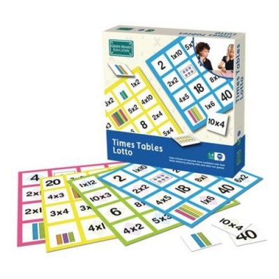 THE GREEN BOARD GAME CO. Times Table Lotto