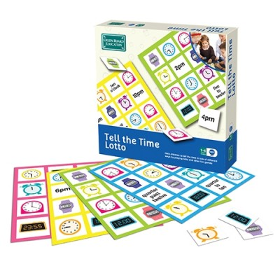 THE GREEN BOARD GAME CO. Tell The Time Lotto