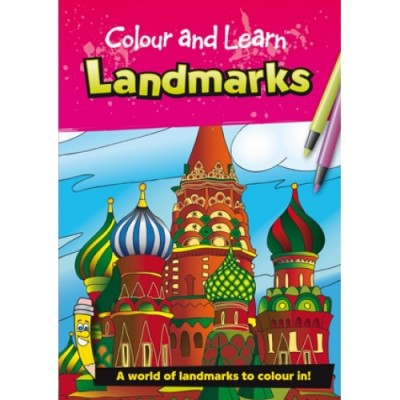 THE GREEN BOARD GAME CO. Colour & Learn Landmarks