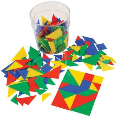 LEARNING RESOURCES Tangrams Classpack, 6 colours