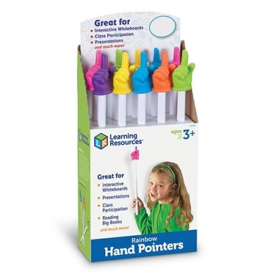 LEARNING RESOURCES 38cm Rainbow Hand Pointers, Set of 10