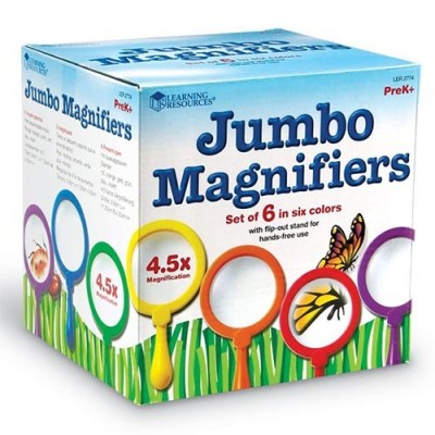 LEARNING RESOURCES Primary Science Jumbo Magnifiers, Set of 6 (without stand)