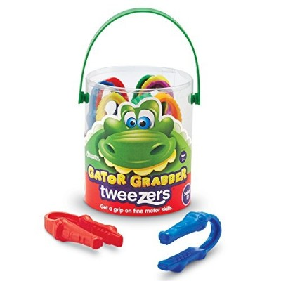 LEARNING RESOURCES Gator Grabber Tweezers, Set of 12