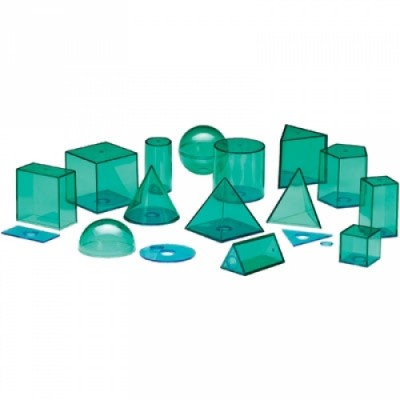 LEARNING RESOURCES View-Thru Geometric Solids, Set of 14