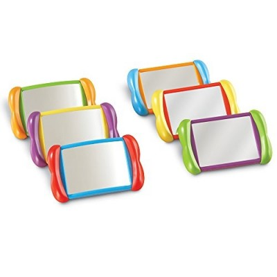 LEARNING RESOURCES All About Me 2 in 1 Mirrors, Set of 6