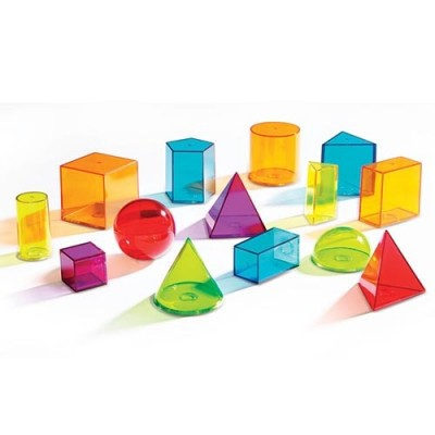 LEARNING RESOURCES View-Thru Geometric Solids