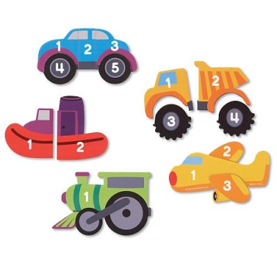 LEARNING RESOURCES Magnetic Counting Vehicle Puzzles