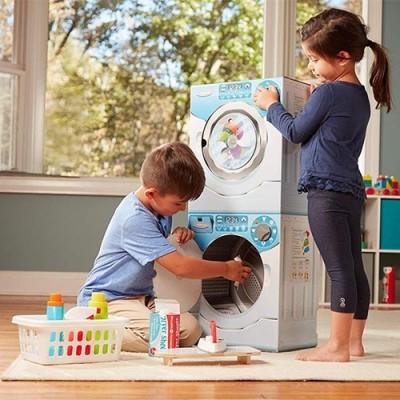 MELISSA & DOUG Washer/Dryer Combo Cardboard Play Set