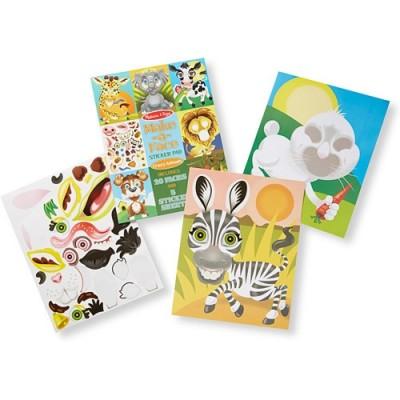 MELISSA & DOUG Make-a-Face Sticker Pad - Crazy Animals
