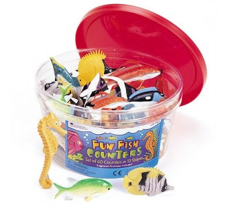 LEARNING RESOURCES Fun Fish Counters, Set of 60