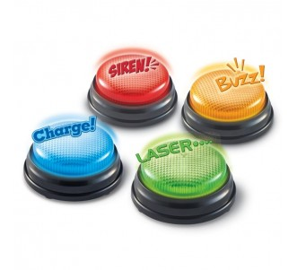 LEARNING RESOURCES Lights & Sounds Answer Buzzers (Set of 4)