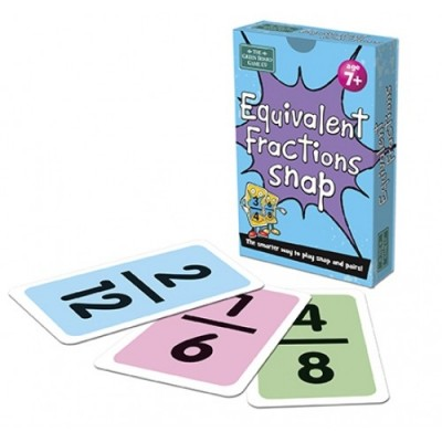 THE GREEN BOARD GAME CO. Equivalent Fraction Snap