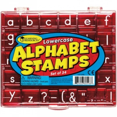LEARNING RESOURCES Lowercase Alphabet & Punctuation Stamps