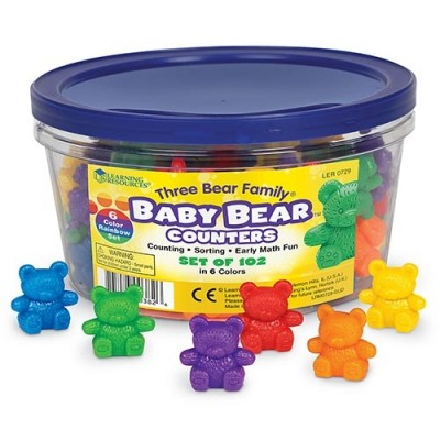 LEARNING RESOURCES Three Bear Family Baby Bear Counters