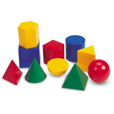 LEARNING RESOURCES Large Geometric Plastic Shapes