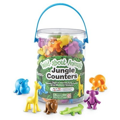 LEARNING RESOURCES Wild About Animals Jungle Counters