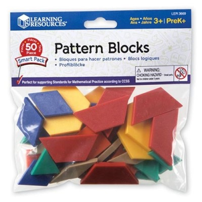 LEARNING RESOURCES Pattern Blocks Smart Pack