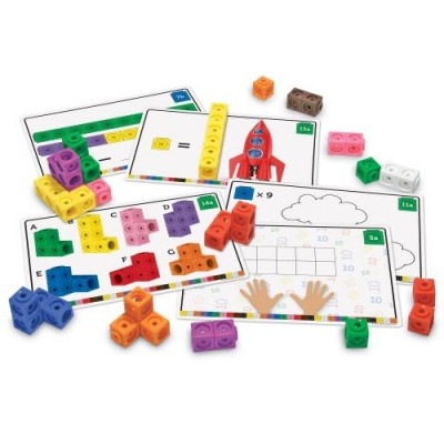 LEARNING RESOURCES MathLink Cubes Early Math Activity Set