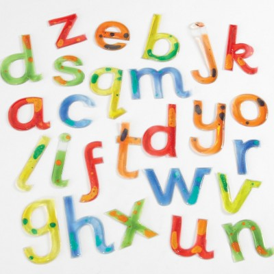 TTS Squidgy Sparkle Gel Lowercase Letters 26pk