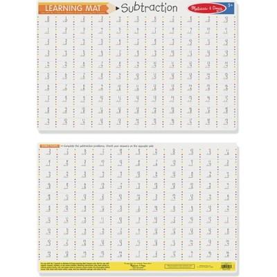 MELISSA & DOUG Subtraction Problems Write-A-Mat